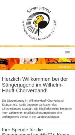 Vorschau der mobilen Webseite www.saengerjugend-stuttgart.de, Homepage der Sängerjugend Stuttgart
