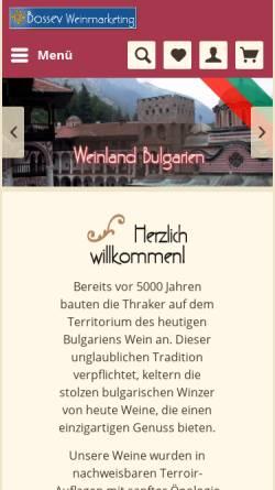 Vorschau der mobilen Webseite bulgarien-weine.de, Bossev Weinmarketing GbR