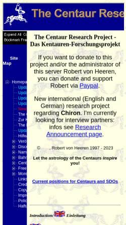Vorschau der mobilen Webseite www.kentauren.info, Kentauren Forschungsprojekt