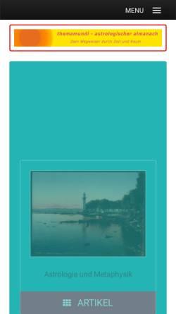 Vorschau der mobilen Webseite www.themamundi.de, themamundi