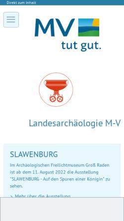 Vorschau der mobilen Webseite www.archaeologie-mv.de, Archäologisches Landesmuseum M-V