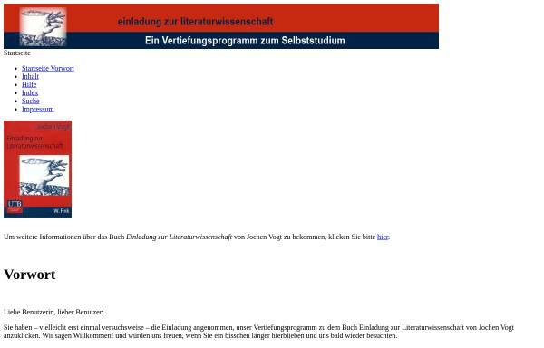 Vorschau von www.uni-due.de, Einladung zur Literaturwissenschaft