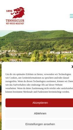 Vorschau der mobilen Webseite www.tc-rot-weiss-neustadt.de, Tennisclub 1896 Rot-Weiss Neustadt .V.