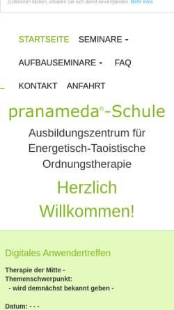 Vorschau der mobilen Webseite pranameda.de, Ausbildungszentrum TCM ETO-Geiger