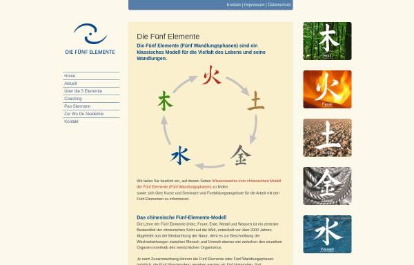 Vorschau von die-fuenf-elemente.de, Die Fünf Elemente