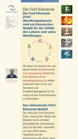 Vorschau der mobilen Webseite die-fuenf-elemente.de, Die Fünf Elemente
