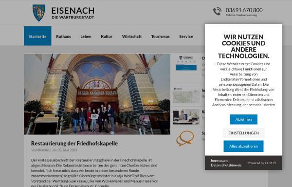 Vorschau von www.eisenach.de, Wartburgstadt Eisenach