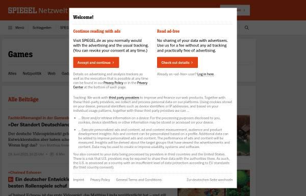 Vorschau von www.spiegel.de, Spiegel Online: Games