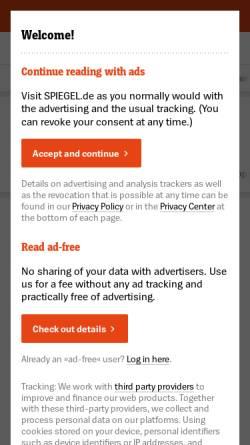 Vorschau der mobilen Webseite www.spiegel.de, Spiegel Online: Games