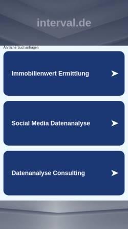 Vorschau der mobilen Webseite www.interval.de, Interval GmbH