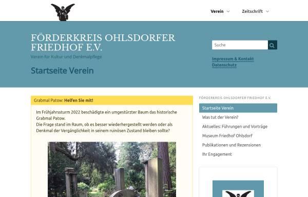 Vorschau von www.fof-ohlsdorf.de, Förderkreis Ohlsdorfer Friedhof e.V.
