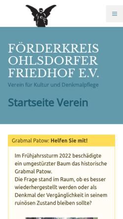 Vorschau der mobilen Webseite www.fof-ohlsdorf.de, Förderkreis Ohlsdorfer Friedhof e.V.