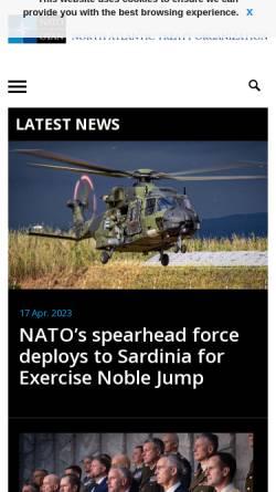 Vorschau der mobilen Webseite www.nato.int, NATO