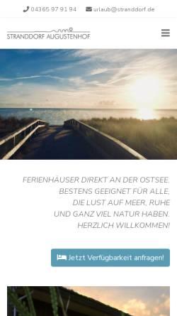 Vorschau der mobilen Webseite www.stranddorf.de, Ferienhaus Ostsee