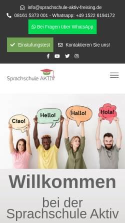 Vorschau der mobilen Webseite sprachschule-aktiv-freising.de, Sprachschule-Aktiv Freising