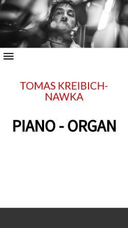 Vorschau der mobilen Webseite www.tomaskreibich.de, Kreibich, Tomas