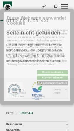 Vorschau der mobilen Webseite www.uni-salzburg.at, Gendup