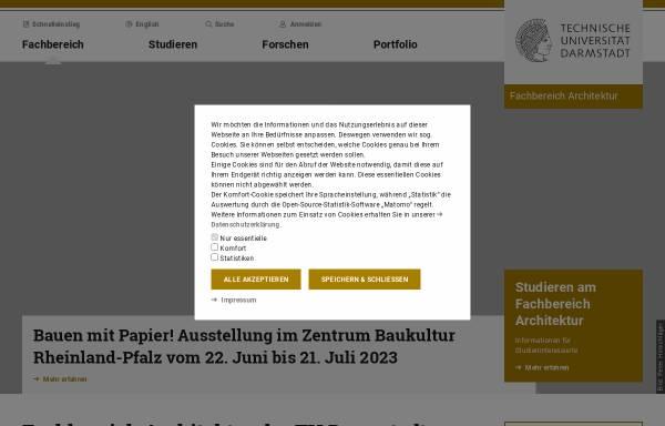 Vorschau von www.architektur.tu-darmstadt.de, Technische Universität Darmstadt