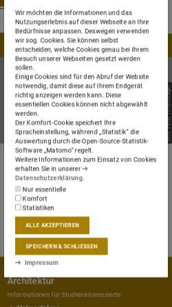 Vorschau der mobilen Webseite www.architektur.tu-darmstadt.de, Technische Universität Darmstadt