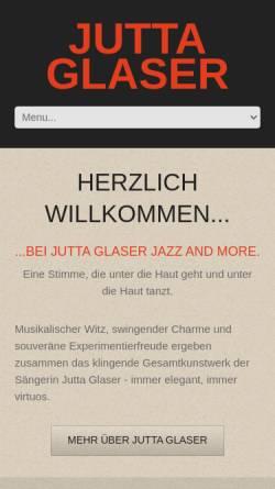 Vorschau der mobilen Webseite www.jutta-glaser.de, Glaser, Jutta