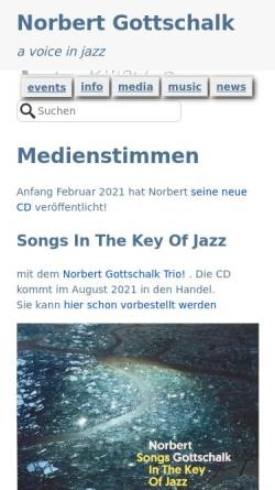Vorschau der mobilen Webseite www.norbertgottschalk.de, Gottschalk, Norbert