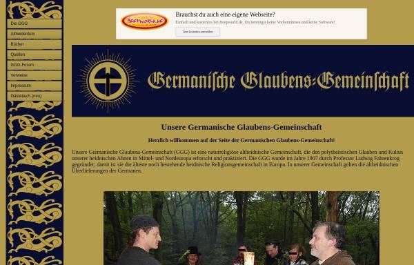 Vorschau von www.germanische-glaubens-gemeinschaft.de, Germanische Glaubens-Gemeinschaft