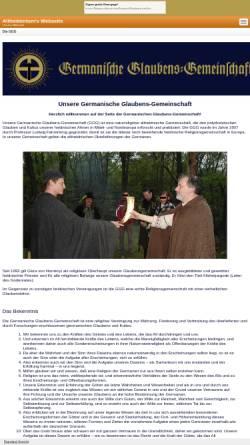 Vorschau der mobilen Webseite www.germanische-glaubens-gemeinschaft.de, Germanische Glaubens-Gemeinschaft