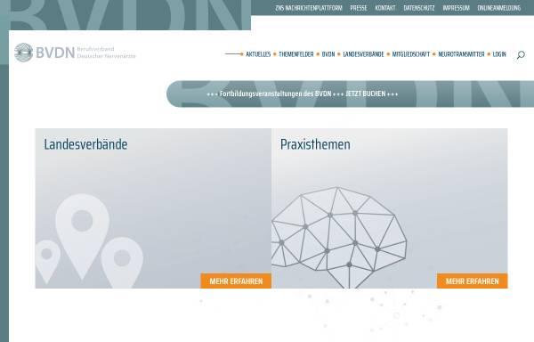 Vorschau von www.bvdn.de, Berufsverband Deutscher Nervenärzte e.V.