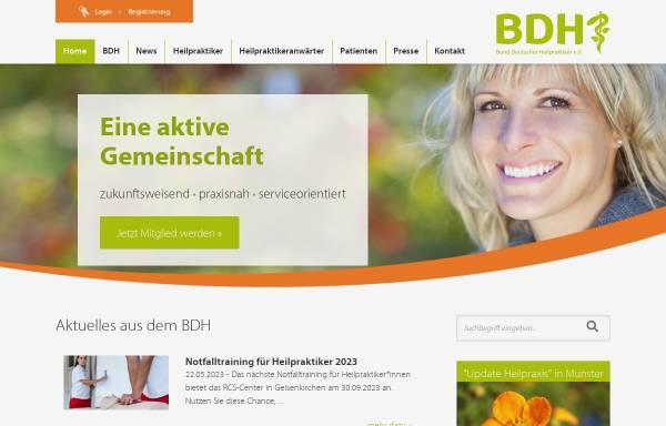 Vorschau von www.bdh-online.de, Bund Deutscher Heilpraktiker (BDH)