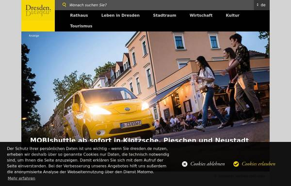 Vorschau von www.dresden.de, Landeshauptstadt Dresden