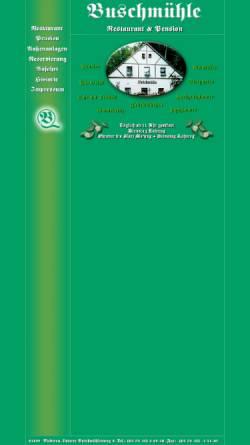 Vorschau der mobilen Webseite www.buschmuehle-sachsen.de, Buschmühle