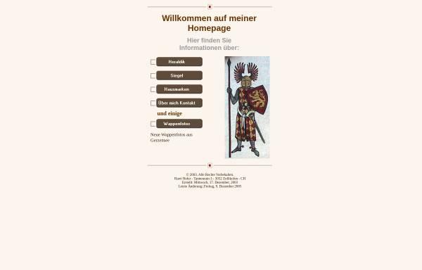 Vorschau von home.datacomm.ch, Einführung zu Heraldik, Hausmarken und Siegel
