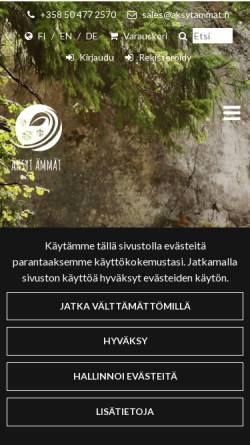Vorschau der mobilen Webseite www.aksytammat.fi, Aktiivilomat Nurmeksessa