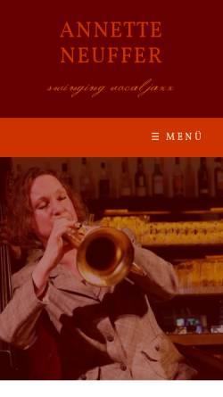 Vorschau der mobilen Webseite www.annetteneuffer.de, Neuffer, Annette