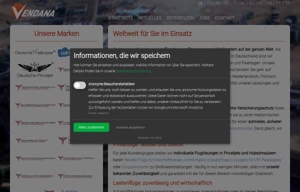 Vorschau von www.vendana.de, Vendana GmbH