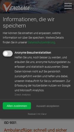 Vorschau der mobilen Webseite www.vendana.de, Vendana GmbH