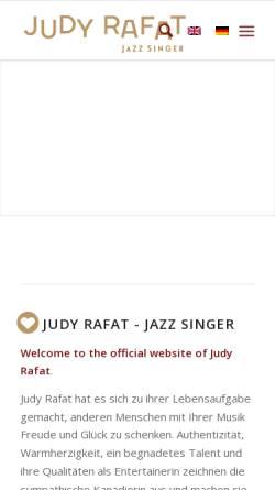 Vorschau der mobilen Webseite www.judyrafat.de, Rafat, Judy