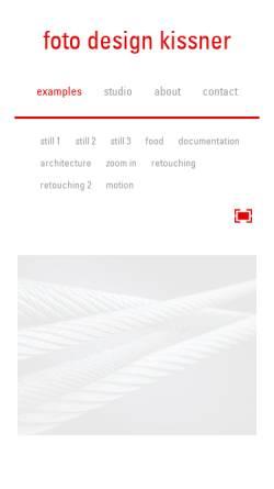 Vorschau der mobilen Webseite www.foto-design-kissner.de, Kissner Foto Design