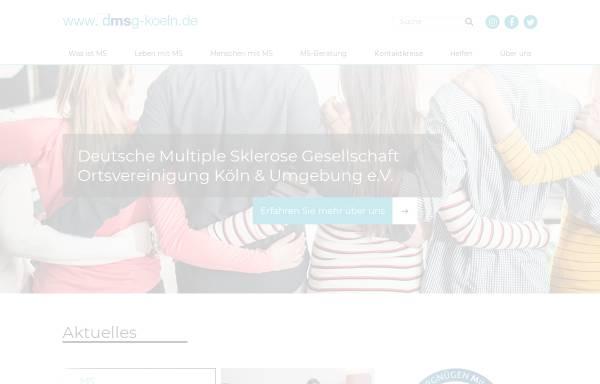 Vorschau von www.dmsg-koeln.de, Multiple Sklerose Selbsthilfe