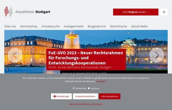 Vorschau von anwaltverein-stuttgart.de, AnwaltVerein Stuttgart e.V.
