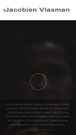 Vorschau der mobilen Webseite www.jacobienvlasman.de, Vlasman, Jacobien