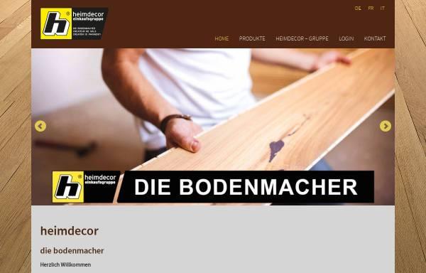 Vorschau von www.heimdecor.ch, GK heimdecor AG