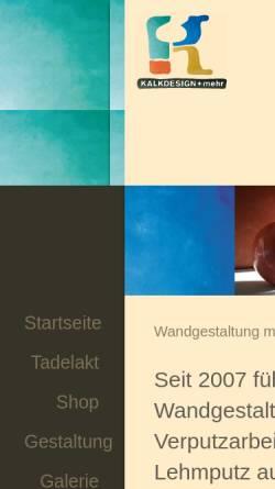 Vorschau der mobilen Webseite www.kalkdesign.de, Kalkdesign, Ralf Koch