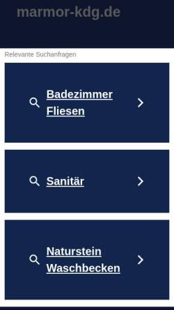 Vorschau der mobilen Webseite www.marmor-kdg.de, Martin Morgalla-Reva