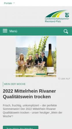Vorschau der mobilen Webseite www.landservice-rlp.de, Landservice Rheinland-Pfalz