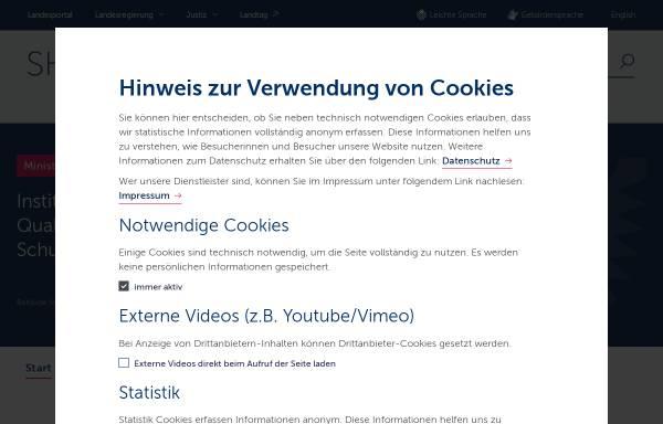 Vorschau von www.schleswig-holstein.de, Institut für Qualitätsentwicklung an Schulen, Schleswig-Holstein (IQSH)