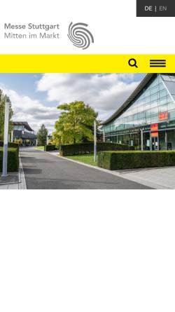 Vorschau der mobilen Webseite www.messe-stuttgart.de, Messe Stuttgart International