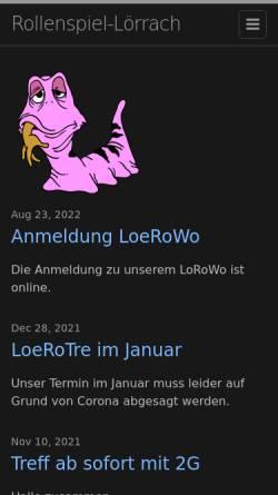 Vorschau der mobilen Webseite rollenspiel-loerrach.de, Lörracher Rollenspiel Community