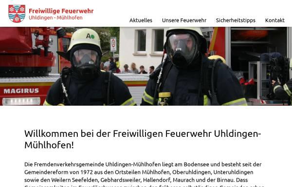 Vorschau von www.feuerwehr-uhldingen.de, Freiwillige Feuerwehr Uhldingen-Mühlhofen