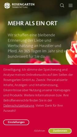 Vorschau der mobilen Webseite www.tierbestattung-im-rosengarten.de, Kleintierkrematorium im Rosengarten GmbH